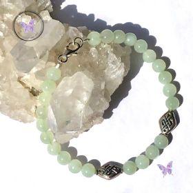 Chinese Jade Celtic Symbol Bracelet